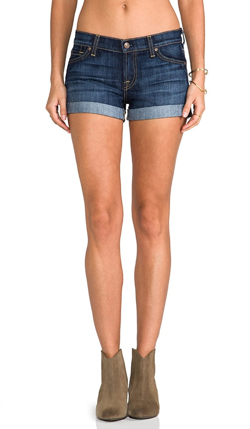 7 For All Mankind Roll Up Short in Blue