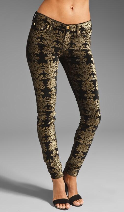 The Skinny Brocade Foil Print on Velvet