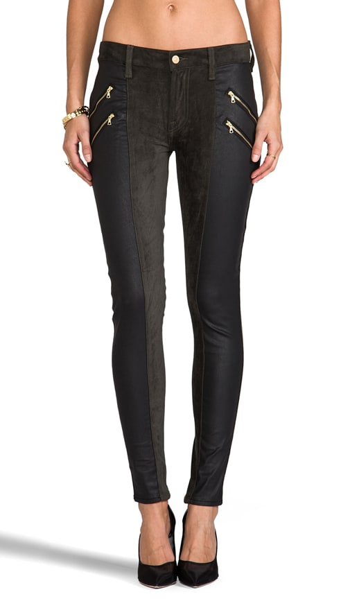 Double Zip Sueded Skinny