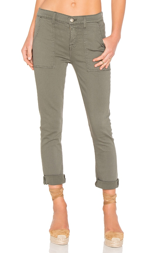7 For All Mankind Military Pant in Green