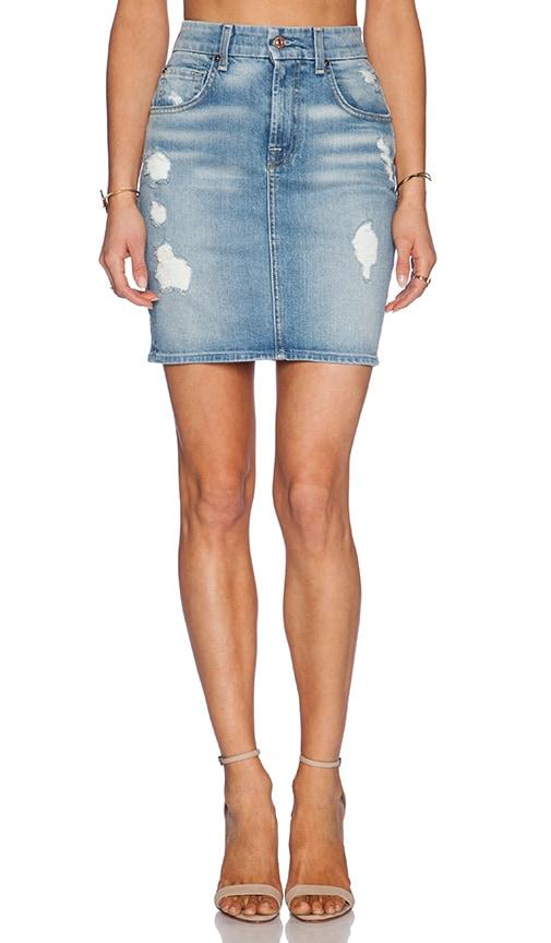 Mid Length Pencil Skirt