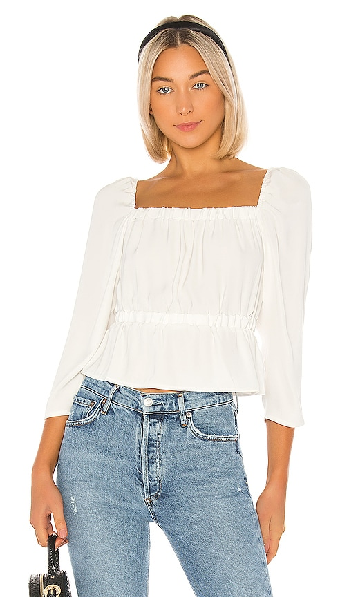 Square Neck Elastic Waist Top