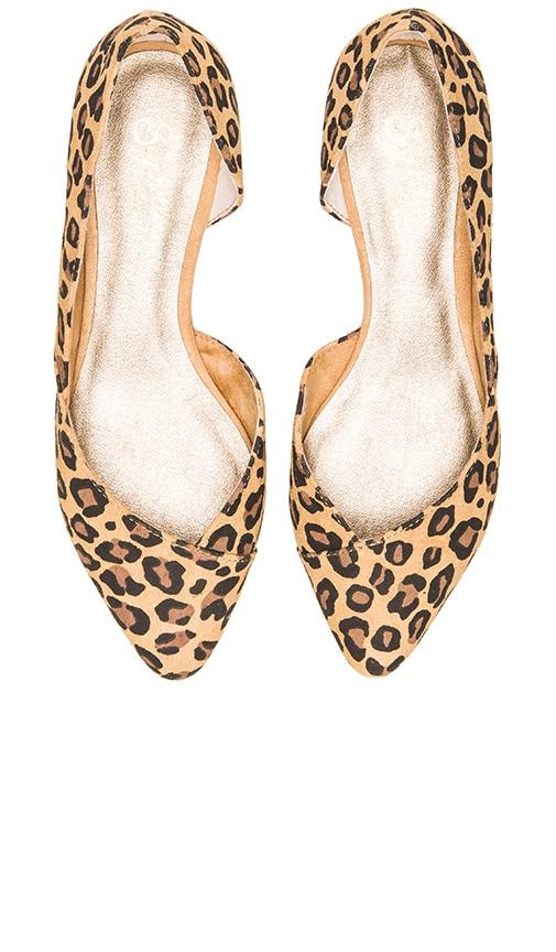 Seychelles Advantage Flat in Tan Leopard