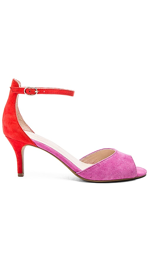 Seychelles Hazel Heel in Fuschia & Red Suede
