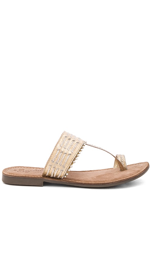 Seychelles Survey Sandal in Metallic Gold