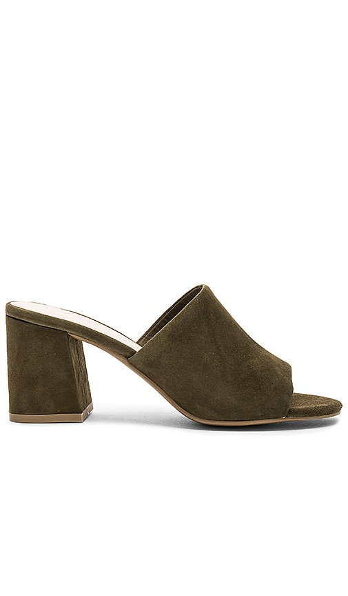 Seychelles Commute Heel in Olive Suede in Olive