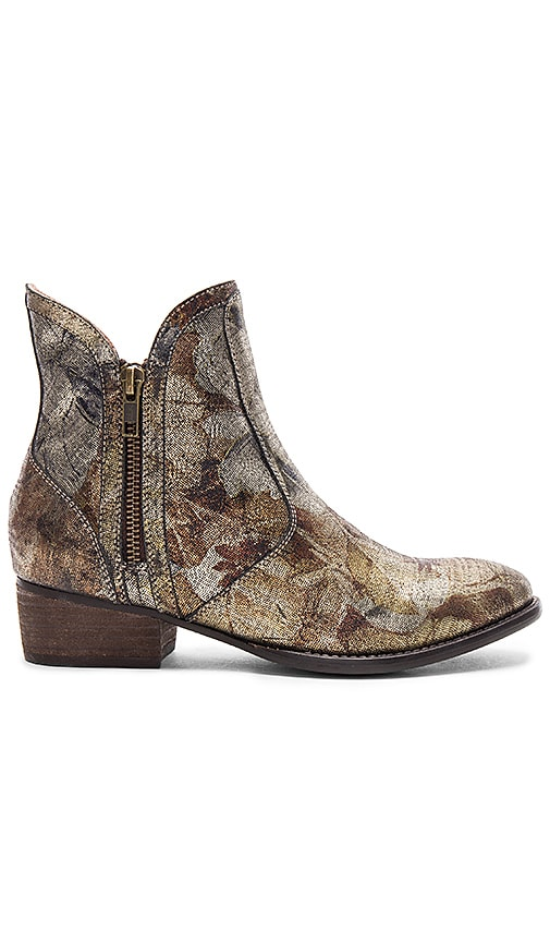 Seychelles Lucky Penny Bootie in Metallic Gold