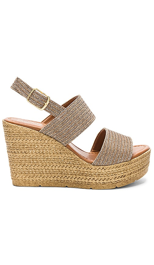 Seychelles Downtime Wedge in Metallic Bronze