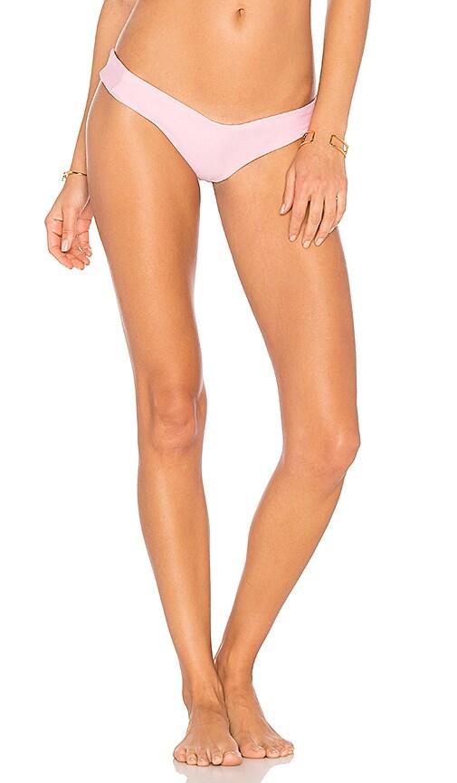 Stone Fox Swim Tucker Thong Bottom in Pink