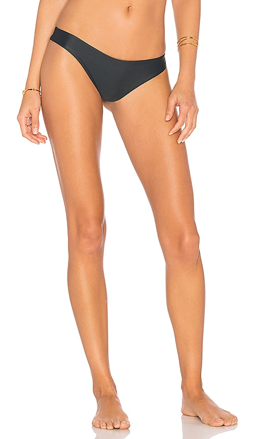 Stone Fox Swim Cai Bikini Bottom in Charcoal