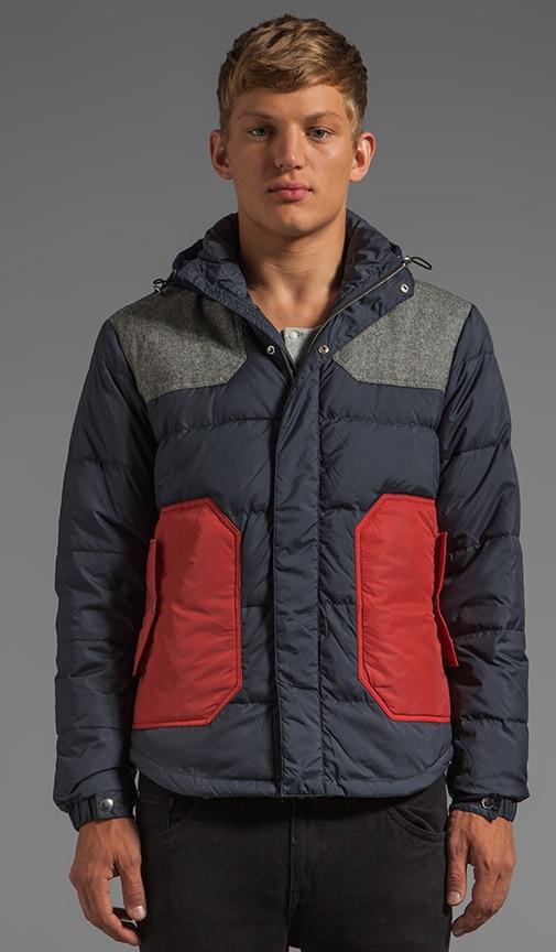 Colorblock Down Jacket
