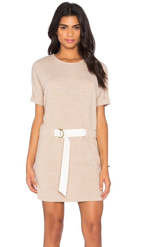 Shades of Grey by Micah Cohen Judo Belt Bag Dress in Beige