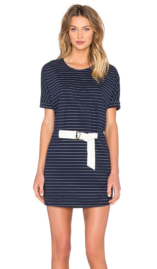 Shades of Grey by Micah Cohen Judo Belt Bag Dress in Navy