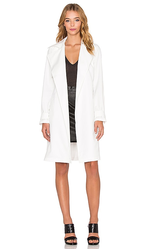 Shades of Grey by Micah Cohen Trench Coat in White