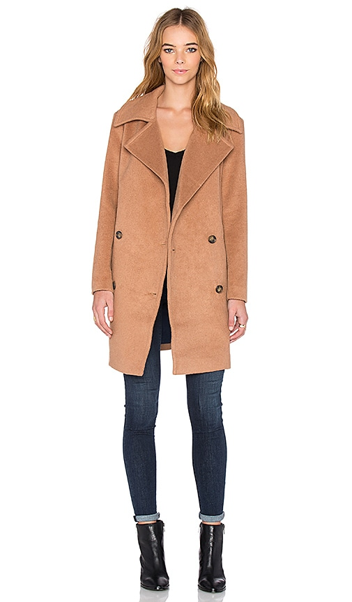 Shades of Grey by Micah Cohen Double Breasted Officers Coat in Camel