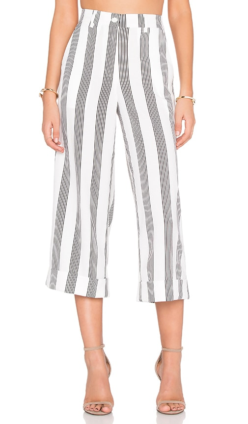 Shades of Grey by Micah Cohen Cuffed Culotte in White