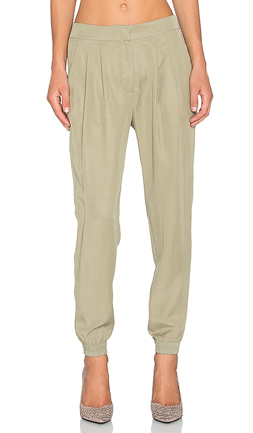 Shades of Grey by Micah Cohen Pleated Jogger Pants in Olive