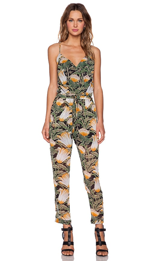 3e348ef240f9 Shades of Grey by Micah Cohen Spaghetti Strap Jumpsuit in Jungle ...