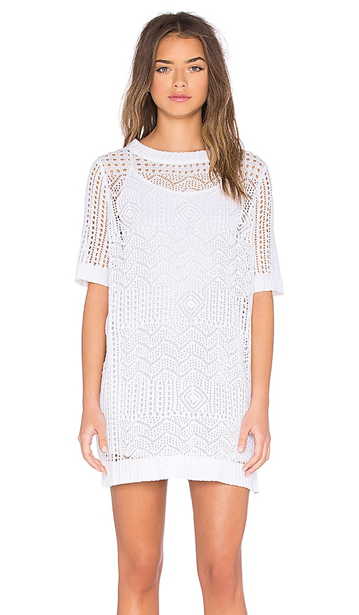 SHAE Crochet Mini Dress in White