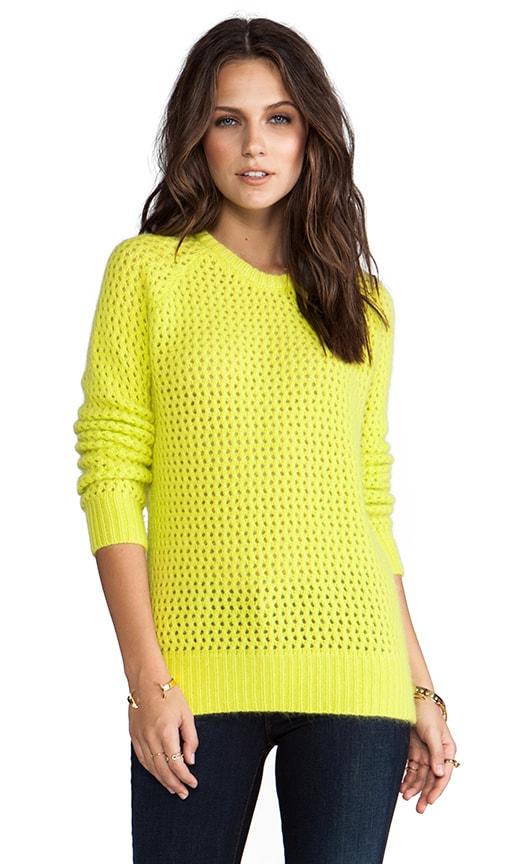 Long Sleeve Open Stitch Fuzzy Sweater