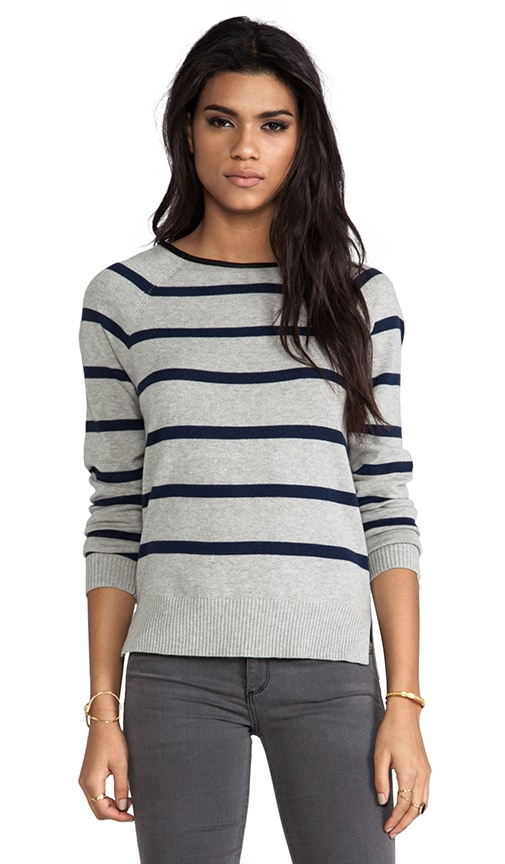 Pullover with Leather Detailing