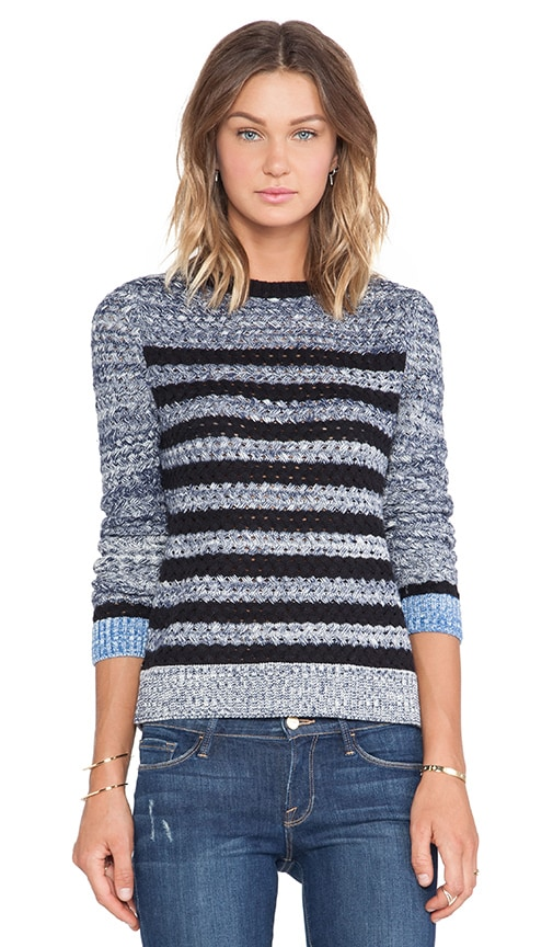 Basketweave Stripe Pullover