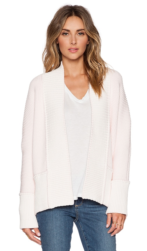 SHAE Saturday Cardigan in Pale Pink Combo