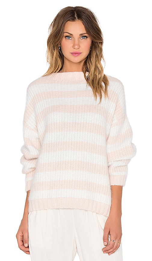 SHAE Elle Sweater in Pink Salt Stripe