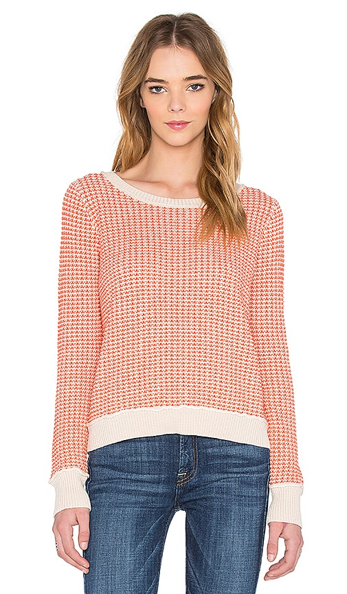 SHAE Stitch Pullover Sweater in Orange