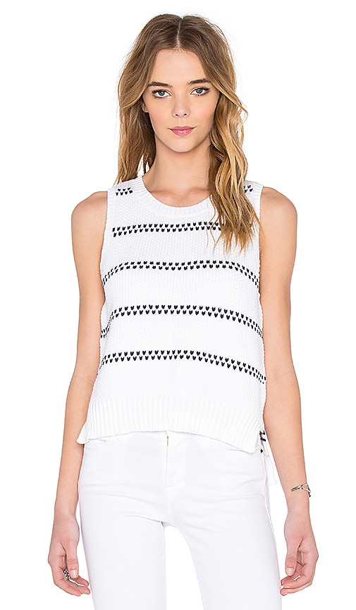 Broken Stripe Sweater Tank