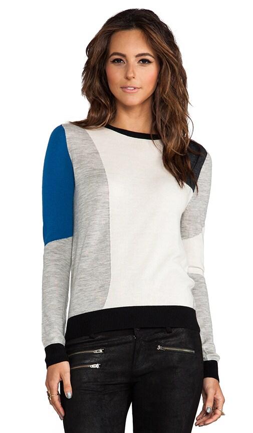 Colorblock Jacquard Pullover