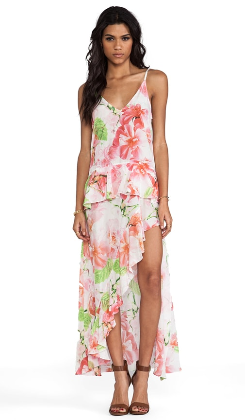 Shakuhachi A Midsummer Nights Midi Cami Dress in Pink Floral | REVOLVE