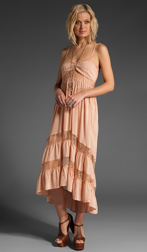 Lace Paneled Maxi Dress