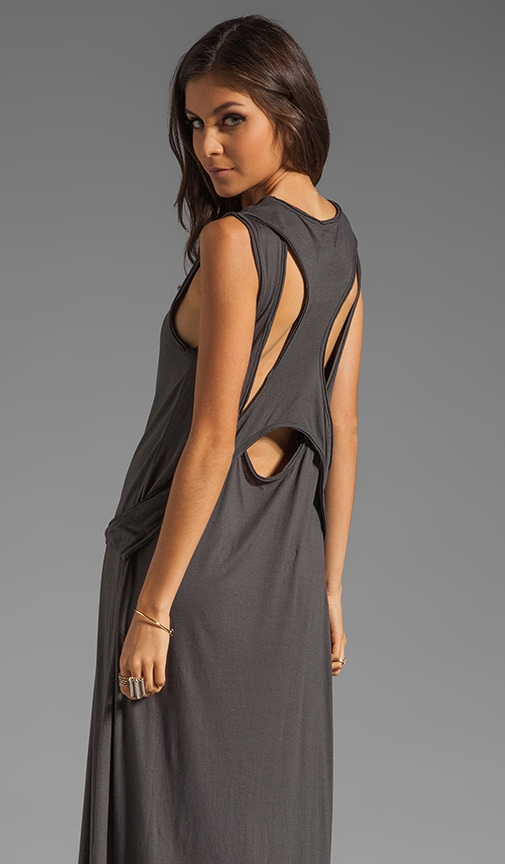 Raw Edge Racer Jersey Maxi Dress
