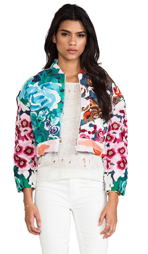 Flower Bomb Embroidered Bomber