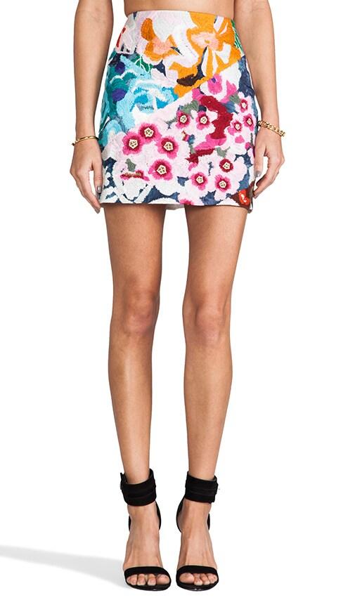 Flower Bomb Embroidered Mini Skirt