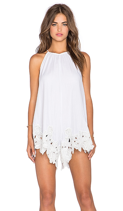 b56b7ee7dbb Shakuhachi Perfect Picnic Romper in White
