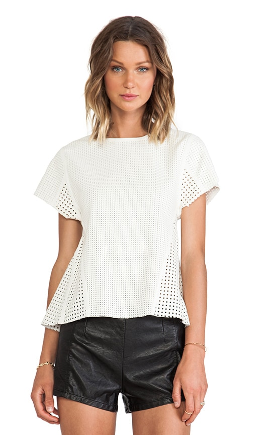 Lattice Leather Shirt