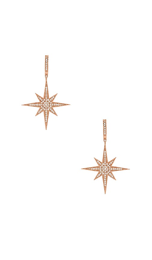 SHASHI Aria Drop Earrings in Metallic Copper