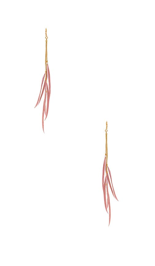SHASHI Rachel Earrings in Metallic Gold