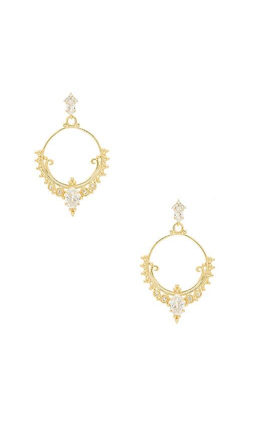 SHASHI Scarlette Earrings in Metallic Gold