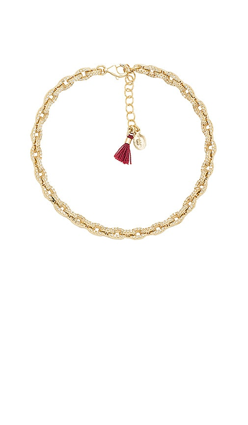 SHASHI Chain Pave Bracelet in Metallic Gold