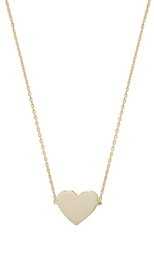 SHASHI Candice Necklace in Metallic Gold