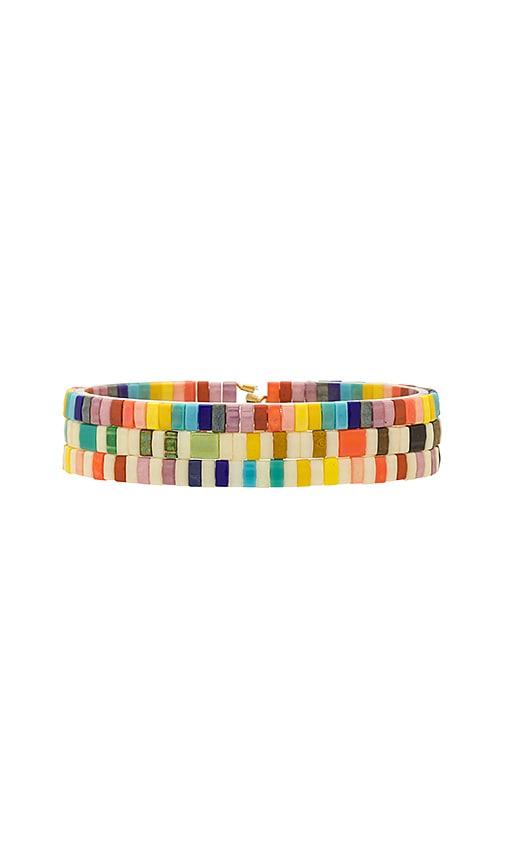 SHASHI Tilu Bracelet Set in Cream