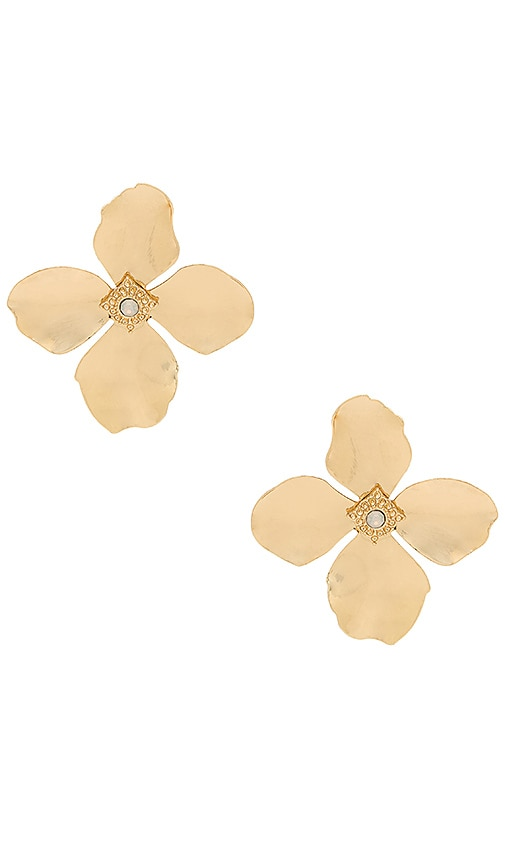 Large Flower Stud Earrings