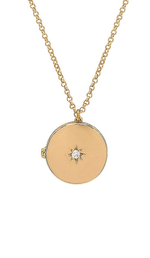 Starburst Locket Necklace