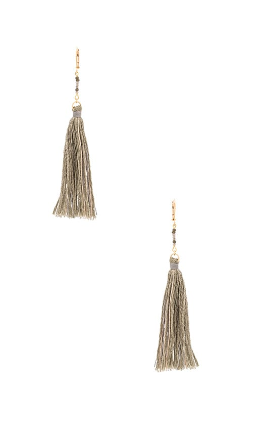 SHASHI Carolina Tassel Earring in Sage