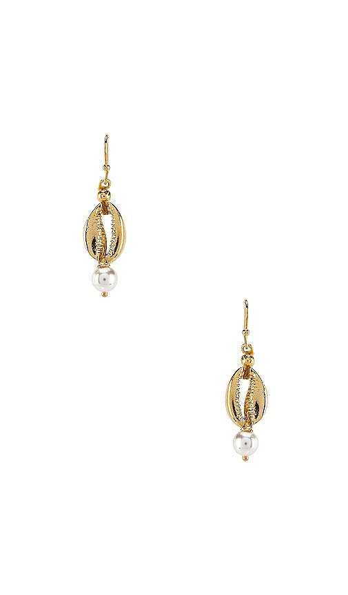 Sea Pearl Huggie Earrings