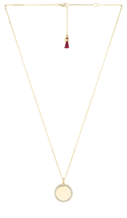 Disc Pave Pendant Necklace