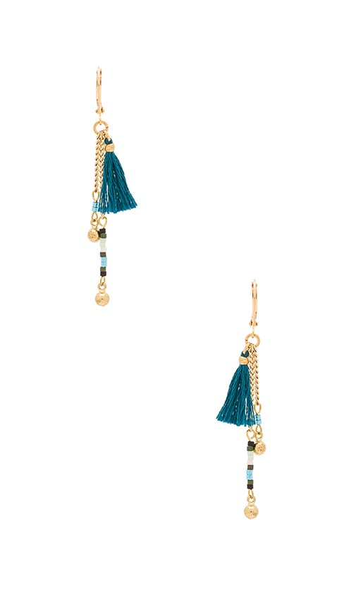 SHASHI Giana Drop Earring in Metallic Gold